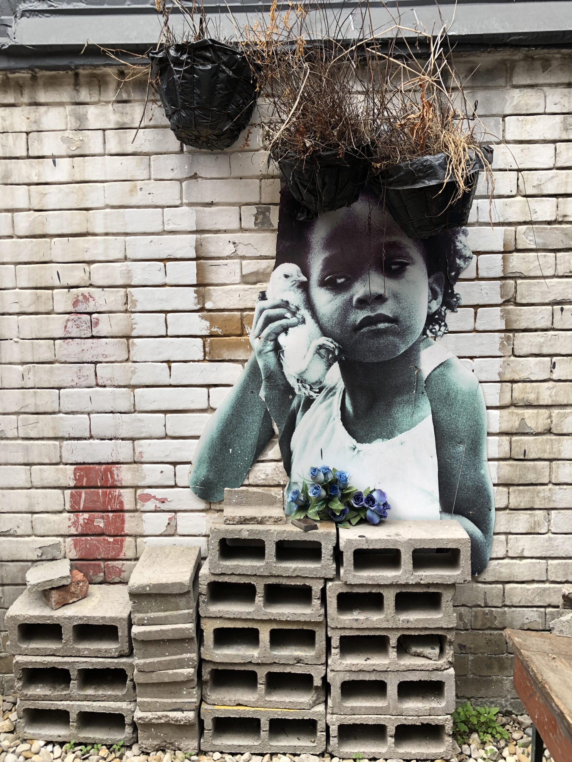 Mauer mit Kunstmalerei